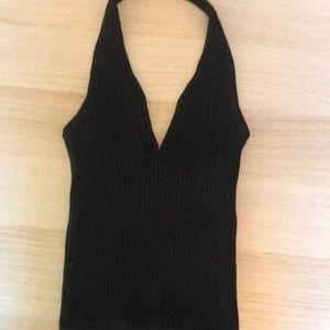 NWOT Guess Black Knit Halter